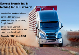 Everest Transit Inc is looking for professional CDL drivers!